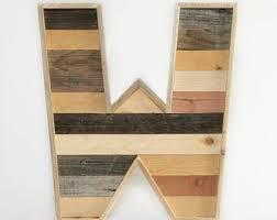 Barn Wood Letters Large Wooden Letter Etsy