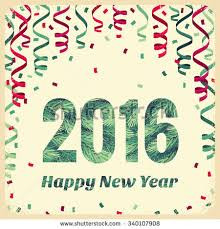 new years streamers happy new year 2016 card colorful stock vector 324139028