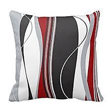 housse de coussin pour canapé ondulés rayures verticales noir blanc et gris housse de
