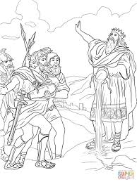 king david coloring pages within and mephibosheth coloring page