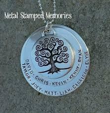 grandmother necklaces grandmother s handsted necklaces grandchildren s names metal