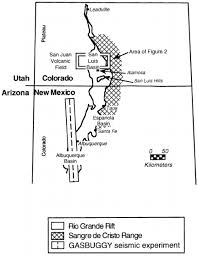 Northern Colorado Map by Generalized Map Of The Rio Grande Rift The Sangre De Cristo