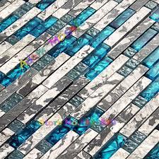 Bad Blau Aliexpress Com Küche Mosaik Glas Blau Fliesen Naturstein Marmor