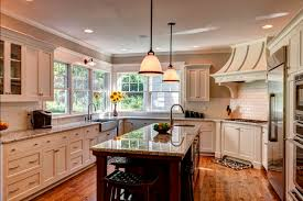 kitchen island construction custom kitchen with windows around sink pendants above kitchen