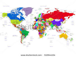 world map with countries name world map countries vector illustration names stock vector