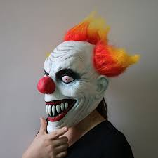 creepy halloween killer clown scary mask horror masquerade cosplay