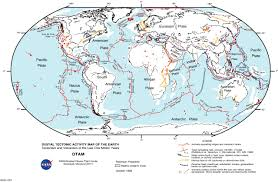 Map With Oceans Evolving Earth Plate Tectonics