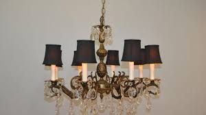 shade crystal chandelier chandelier bronze and crystal chandeliers extraordinary oil