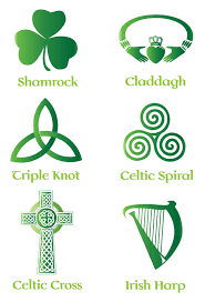symbols of thanksgiving irish u0026 celtic symbol vector set backgrounds buttons patterns free