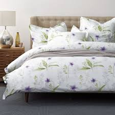 Sateen Duvet Cover King Simply Violet Sateen Duvet Cover The Company Store