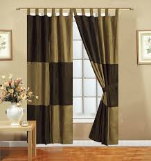 Chezmoi Collection Curtains by Amazon Com Mocha Brown Microsuede Patchwork Lined Tab Top Panel