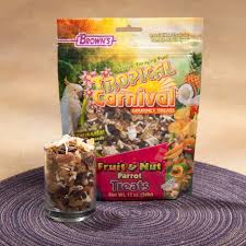 fruit treats brown s tropical carnival parrot fruit nut treats at drs foster