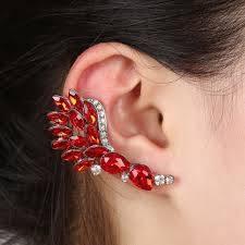 earring cuffs aliexpress buy zircon rhinestone ear cuff clip on