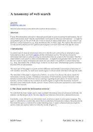 Search Engine For Research Papers A Taxonomy Of Web Search Pdf Download Available