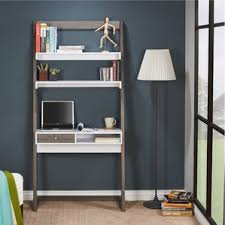 Desk And Bookshelf Combo Leaning U0026 Ladder Desks You U0027ll Love Wayfair