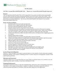 Sample Resume Accounts Receivable Accounts Payable Job Description Job Description Quality Officer
