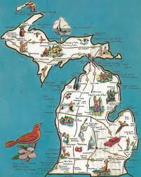 Up Michigan Map Vintage Michigan History Heritage Travel U0026 Tourism Collect U2026 Flickr