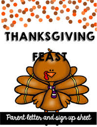 thanksgiving feast parent letter by breitfeller tpt