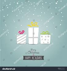 christmas card gift box stock vector 224219275 shutterstock