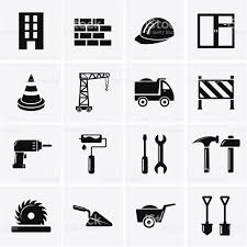 building construction and tools icons stock vector art 497157695