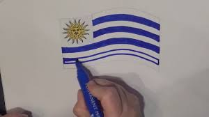 Flag Uruguay Learn Geography For Kids How To Draw A Flag Uruguay Youtube