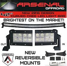 curved marine led light bar 2016 1 42 inch curved 240w cree led light bar by arsenal offroad tm