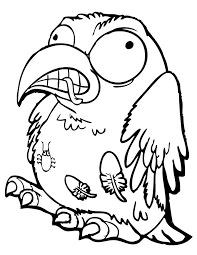 trash pack cruddy crow coloring u0026 coloring pages
