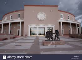 New Mexico State House Rear Entrance To The Roundhouse New Mexico State Capitol Building