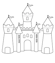 medieval castle draw medieval castle coloring