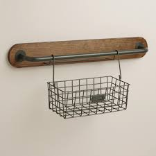 Wire Bathroom Shelving by Wire Basket Shelves Hanging Wire Basket Organizers With Four Bird
