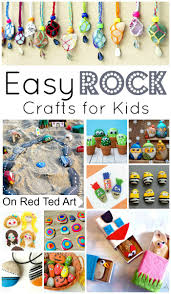 easy rock crafts for kids red ted art u0027s blog