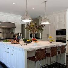square kitchen island hicks island pendants transitional kitchen style me pretty