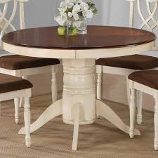 Round Kitchen Table With Leaf Redtinku - Dining room table leaves