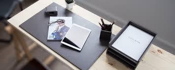 Burgundy Desk Pad Real Leather Desk Pads