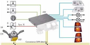 volkswagen touran exterior light control wiring system