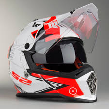 ls2 motocross helmet ls2 mx436 trigger motocross helmet white black red now 21