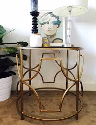 tabe top and chair gold hollywood regency side table
