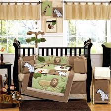 Boy Monkey Crib Bedding Decoration Green And Brown Monkey Crib Bedding Baby Animal