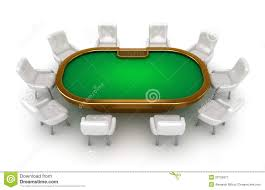 Table Top Poker Table Poker Table With Chairs Top View Royalty Free Stock Photography