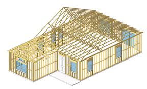 wood house frame crowdbuild for