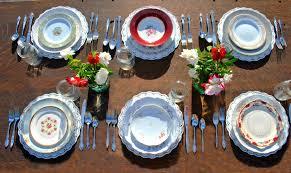 mismatched plates wedding vintage vault vintage china rentals mismatched dinnerware
