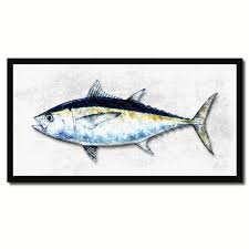 blackfin tuna fish art home decor wall art nautical beach