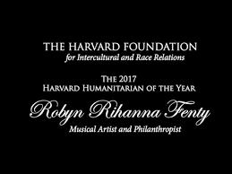 rihanna opened harvard humanitarian award speech with so i