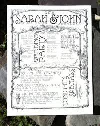 creating a wedding program creating a unique wedding program