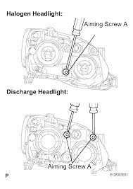 need information on adjusting headlights on a 2006 toyota avalon