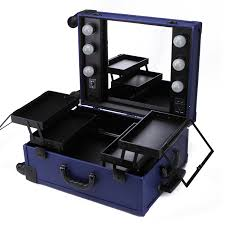 professional makeup lighting new design leather look trolley makeup with lights lighted