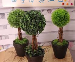 imitation greenery trees windowsill shelf ornaments props