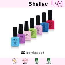 60bottles set l u0026m shellac soak off uv gel nail polish
