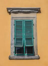 Window With Blinds Typical Italian Window With Blinds Half Open Stock Photo Image