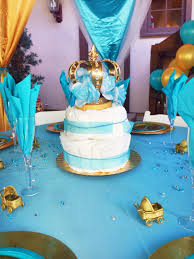 Blue And Gold Baby Shower Decorations by Alexis Royal Baby Shower Diaper Cake Centerpiece Prince